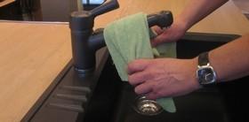 Rengøring af vask og blandingsbatteri