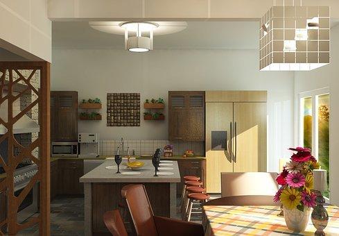 Derfor skal du vælge din loftlampe til køkkenet med omhu